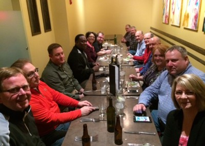 NSTA Spring Conference 2014: Friday eve meal together