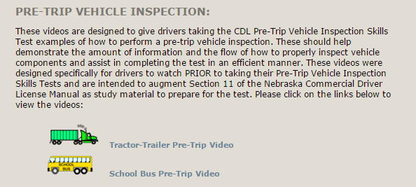 SCHOOL BUS Pre-Trip Practice Video